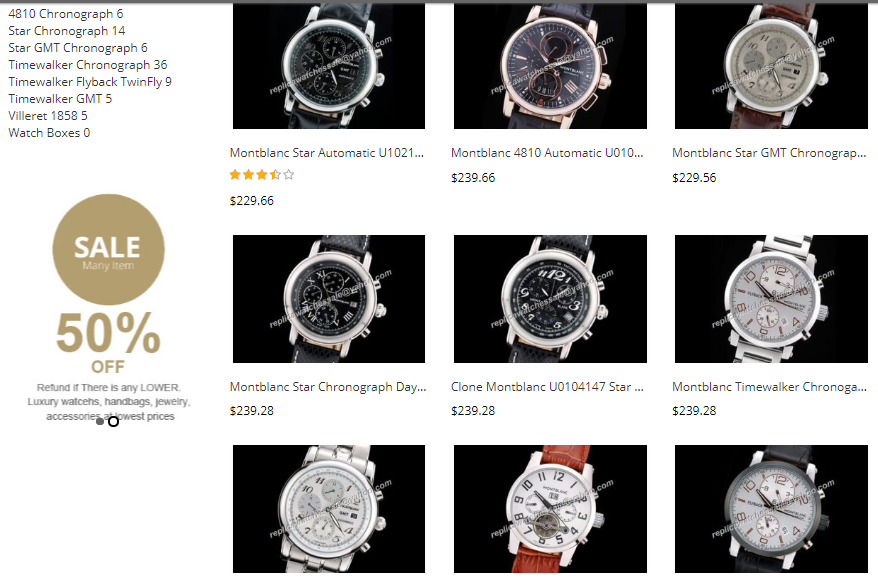 swiss replica montblanc watches sale